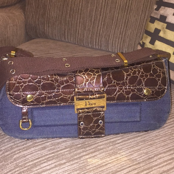Dior Bags Brown And Blue Fancy Purse   Poshmark cad0d505c8